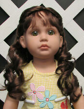 """Doll Wig, Monique """"Lexy"""" Size 6/7 in Brown Black"""