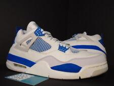 2006 Nike Air Jordan IV 4 Retro WHITE MILITARY BLUE CEMENT GREY 308497-141 DS 12