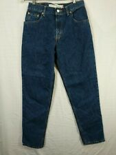 LEVIS'S Women's Dark Wash 550 Mid Rise Relaxed Fit Tapered Leg Jeans size 8M