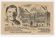 Old North Dixon, President Ronald Reagan DIXON IL Vintage illinois Postcard