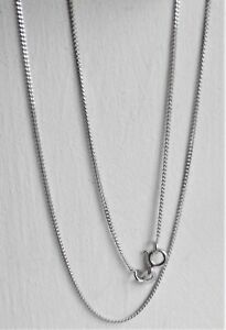 """RHODIUM PLATED STERLING SILVER CURB NECKLACE CHAIN 46cm /18"""" / 2.0 gram NEW QVC"""