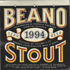 Tolly Cobbold Beano Stout 1994 4.1% ABV Beer Label