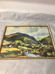 Vintage Framed Print Farm Bridge Dales?
