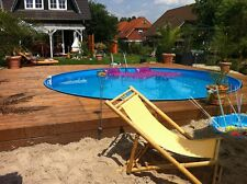 Stahlwandpools schwimmbecken g nstig kaufen ebay - Poolunterlage rund ...