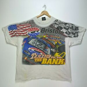 Bristol Motor Speedway Chase Authentics Vintage T-shirt XL Nascar All Over Print