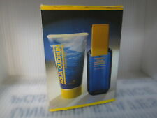 PUIG AQUA QUORUM MEN 2 PIECES GIFT SET:3.4 oz EDT Spray +  5.0 oz Shower Gel