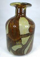 MALTESE MID-CENTURY MODERN 1960s  70s GLASS VASE BY MICHAEL HARRIS FOR MDINA