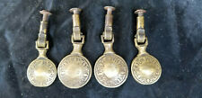 Antique Set Of Four Solid Brass Drawer Pulls Circa 1900