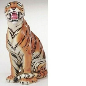 exklusive Dekofigur TIGER 88cm Italien Design Keramik handmade