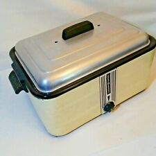 General Electric Roaster Oven Deco Yellow Black Vintage 1930s Working Complete