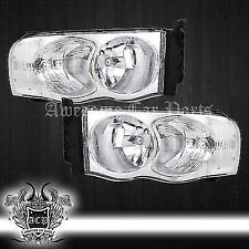 02-05 Ram 1500/2500/3500 Driving Crystal Headlights Chrome Euro Clear Reflectors