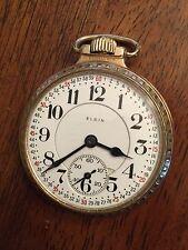 1925 Elgin 16s B.W. Raymond 21j Montgomery Railroad ADJ 5 Star Pocket Watch Case