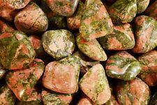 "Tumbled Unakite 2"" Jasper Heart Chakra Healing Reiki Natural Metaphysical Stone"