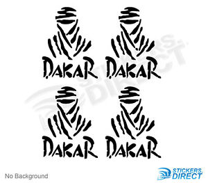 Dakar Rally Decal Stickers Set Of 4 100mm New Outdoor Grade Vinyl 4x4 Off Road
