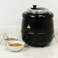 SOUP WARMER HEATER URN KETTLE 10L COMMERCIAL CATERING FOOD BAIN MARIE POT