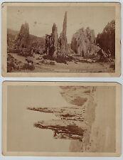 2 Photos - Colorado Springs CO Garden of Gods 1890 Union Pacific Denver Gulf RR
