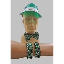 Las Vegas Casino Dealer Costume Accessory Kit Visor $ Money Tie And Garters
