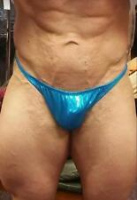 NEW Competition Posing Body Building Trunks - Scrunch Back - Med Turquoise