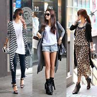 Women Long Sleeve Knitted Cardigan Loose Sweater Jacket Coat Sweater Outwear New