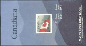 Canada 1191a self-adhesives, booklet, MNH. Michel 1139 MH. Flag, Forest, 1989.