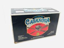 "VTG 70's Encon Decorative Ceiling Fan Antique Brass Casanova Style 52"" 4 Blade"