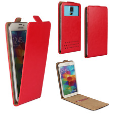 Handy Hülle | HUAWEI Ideos X3 | Flip Schutz Tasche | Flip Rot XS