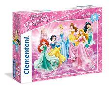 Puzzle Clementoni, Disney, 24 pezzi grandi, Principesse Biancaneve Cenerentola