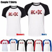 ACDC Malcolm Angus Young Music Hard Rock Band Couples T-Shirt Graphic Tee Tops