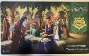 A Game of Thrones LCG 2016 Store Championship Promo Playmat Tyrell FFG