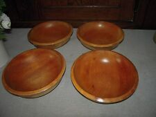 Woodpecker Woodware Hand Made Set of 4 Japense Wooded Bowls
