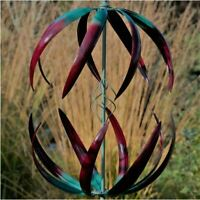 Jonart Designs- Cosmic Wind Sculpture Green and Red Color WINDSPINNER Sp455