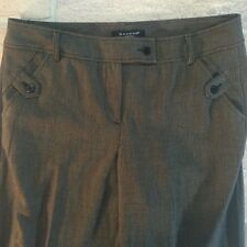 Sandro Sport Sz. 10 Trousers Pants Tab Front Neat Work Office Career Preppy P-18