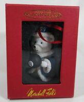 NIB Marshall Fields Santabear Christmas Ornament 1999 Magic 8 Ball