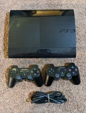 Sony Playstation 3 PS3 Slim System 500gb CECH-4201C Black W/ 2 Controllers