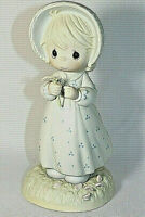 PRECIOUS MOMENT Samuel Butcher He Loves Me Girl Flowers Figurine Home Decor 1990