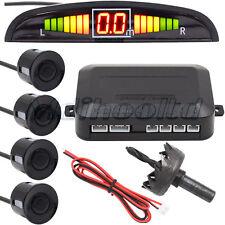 LED Digital Car Rear Reverse 4 Parking Sensors Reversing Audio Buzzer Alarm Kit
