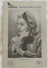 Vintage Knitting Book PATONS 345 Circa 1940 Hats Gloves Scarf Womens & Girls