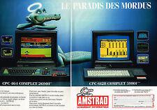 PUBLICITE ADVERTISING 104  1986  AMSTRAD  CPC 6128  &  464  ordinateurs ( 2p)