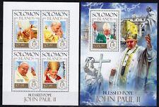 Salomon Solomon Inseln 2013 Mi, 2282-85, Bl. 238 ** Seligsprechung Papst Paul II
