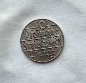 1923 Poland DANZIG 10 Pfennig
