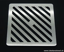 160mm Square Stainless steel metal heavy duty drain cover gully grid grate