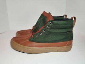 Mens Sk8-Hi Del Pato MTE Duck Boot Kombu Green/Brown #VN0A34962UJ Sz 12 DS
