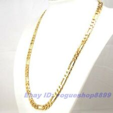 """23.6""""7mm47g REAL EXALTED 18K YELLOW GOLD GP FIGARO NECKLACE SOLID FILL CHAIN v11"""