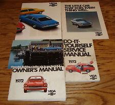 Original 1972 Chevrolet Vega Owners Manual Sales Brochure Postcard Lot of 5 72