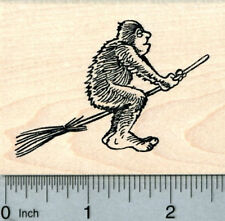 Bigfoot Witch Rubber Stamp, Halloween Series, Sasquatch J30809 Wm