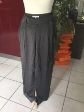 Pantalon MAJE Taille 38 Soie Gris
