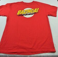 BAZINGA! Big Bang Theory T-Shirt, Ripple Junction, Official Licensed Red, Size L
