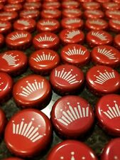 100 Beer Bottle Caps BUDWEISER red crowns crafts