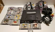 Nintendo 64 Console Bundle With 10 Games. MarioKart & GoldenEye, Tested.
