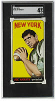 Joe Namath 1965 Topps #122 New York Jets Football Card SGC VG-EX 4